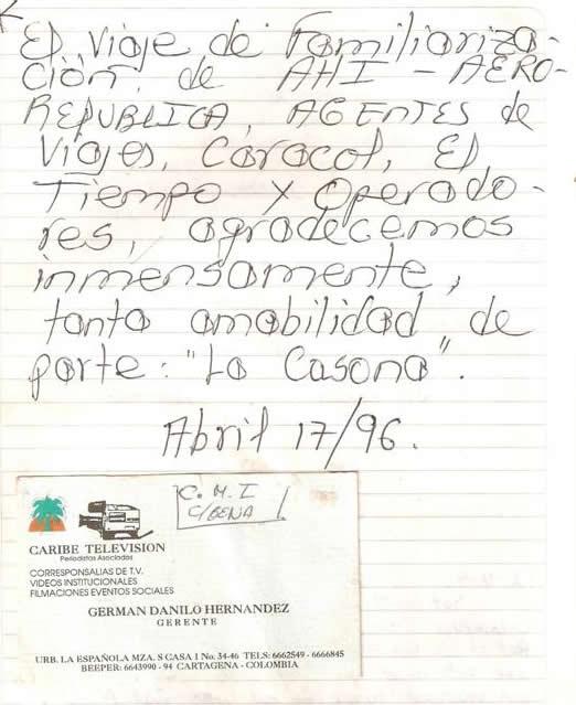 Such kindness on the part of Casa Hotel La Casona